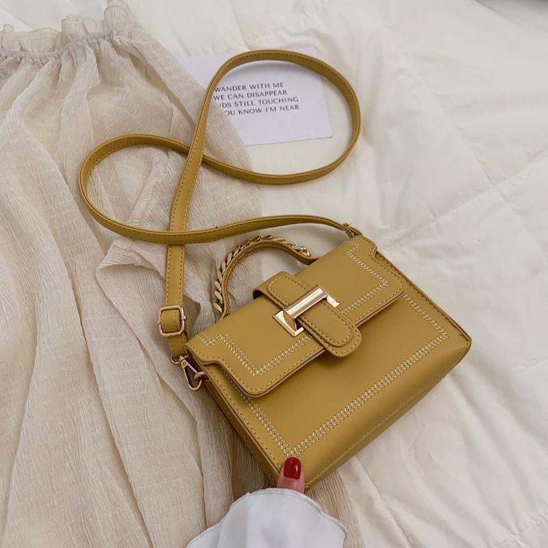 High Grade Sense Bags Western Style Simple Handbag 2019 New Style Fashion Korean Style Versatile Shoulder Square Sling Bag