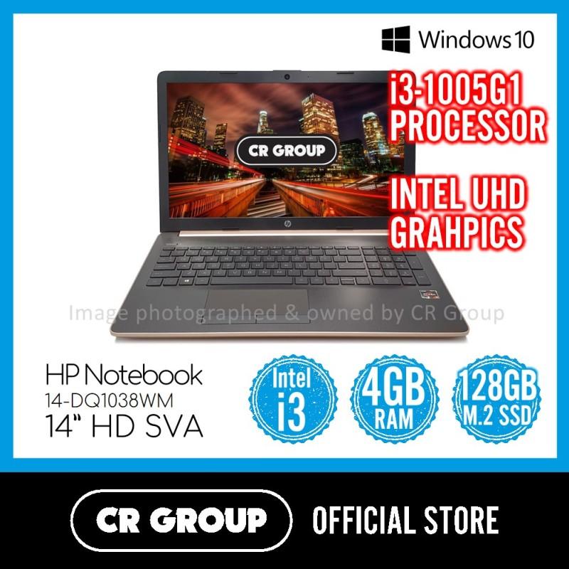 HP Notebook 14-DQ1038WM 14 Inch   Intel® Core™ i3-1005G1   4 GB DDR4 RAM   128 M.2 SSD   Intel® UHD Graphics