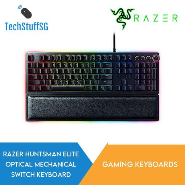 Razer Huntsman Elite OPTO Mech Gaming Keyboard Clicky Purple Switch Singapore