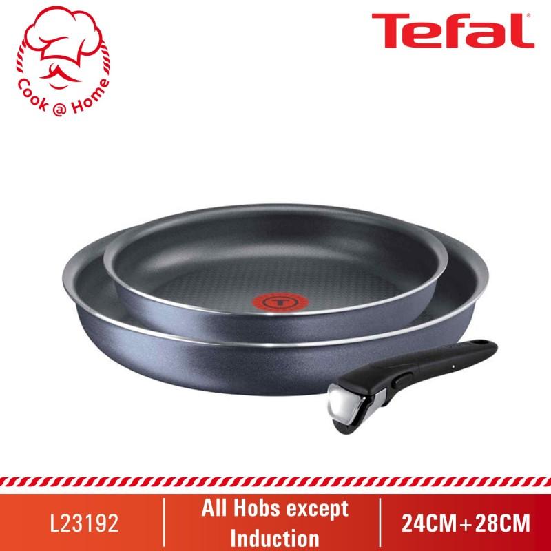 Tefal Ingenio Elegance 3pcs set (Frypan 24cm+28cm+Removable Handle) L23192 Singapore