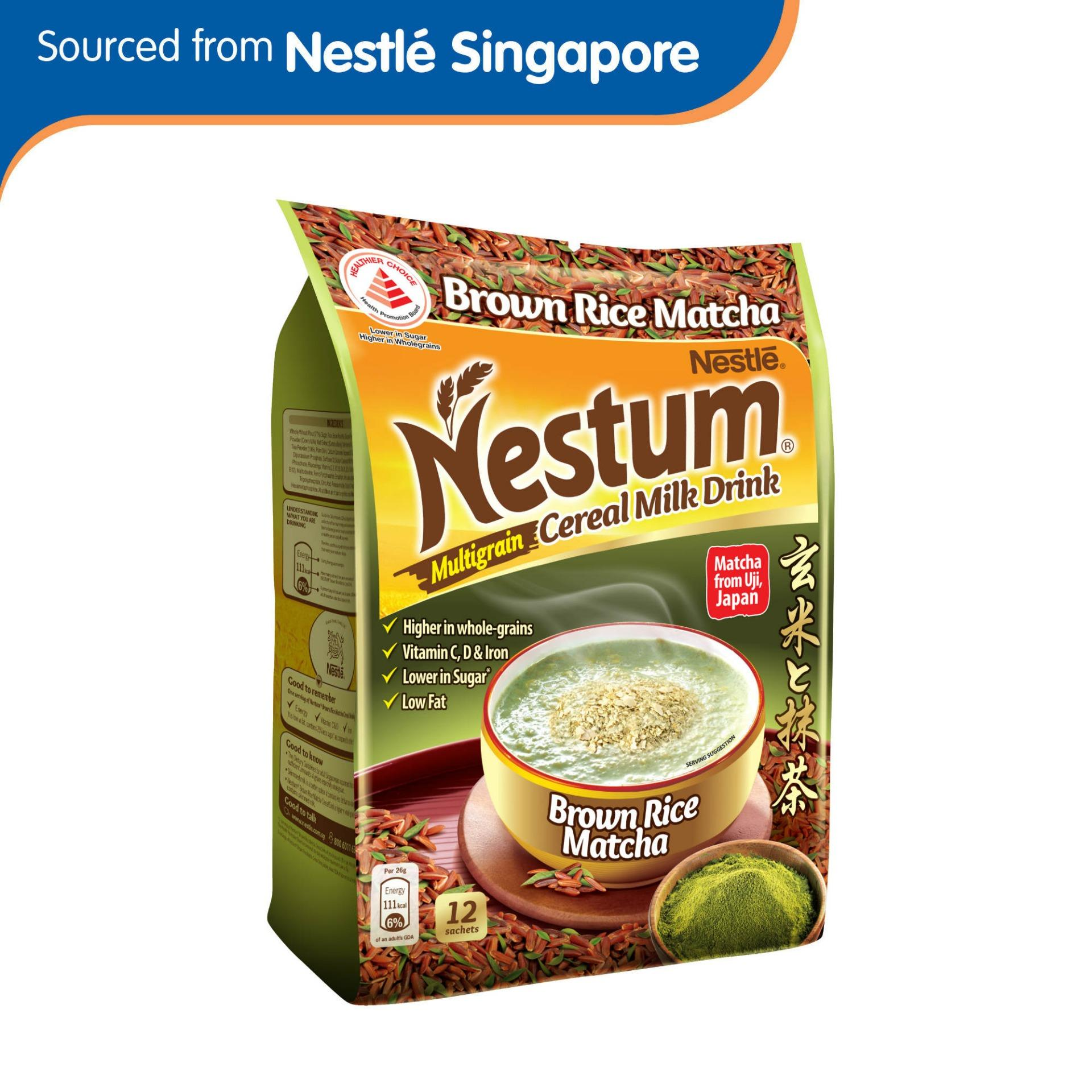 Nestum 3in1 Cereal Drink Brown Rice Matcha 12 X 26g By Nestle Official Store.