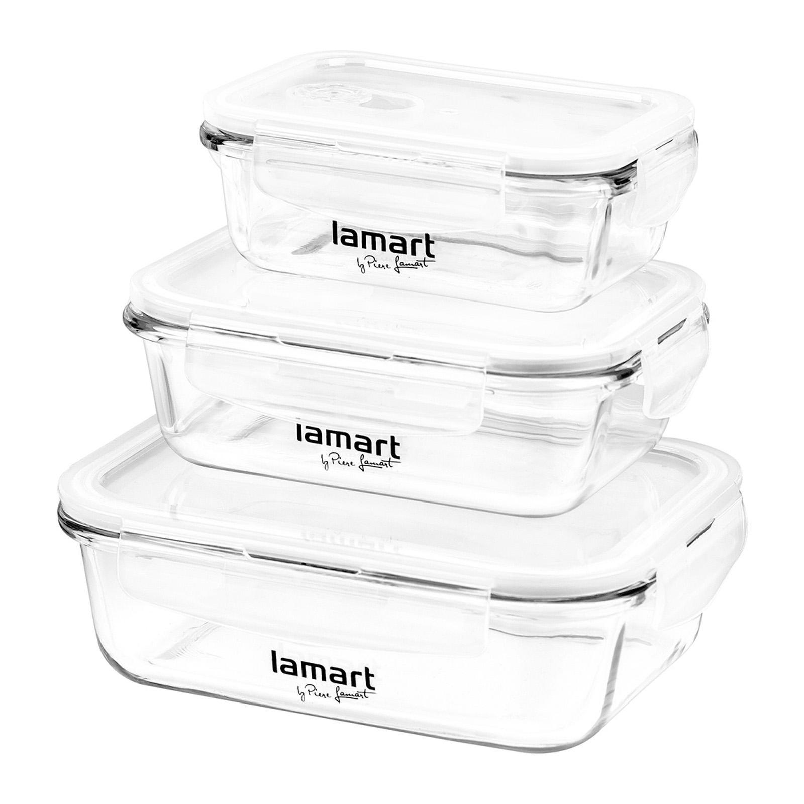 Lamart Air Glass Box Set (Big to Small) - Food Container