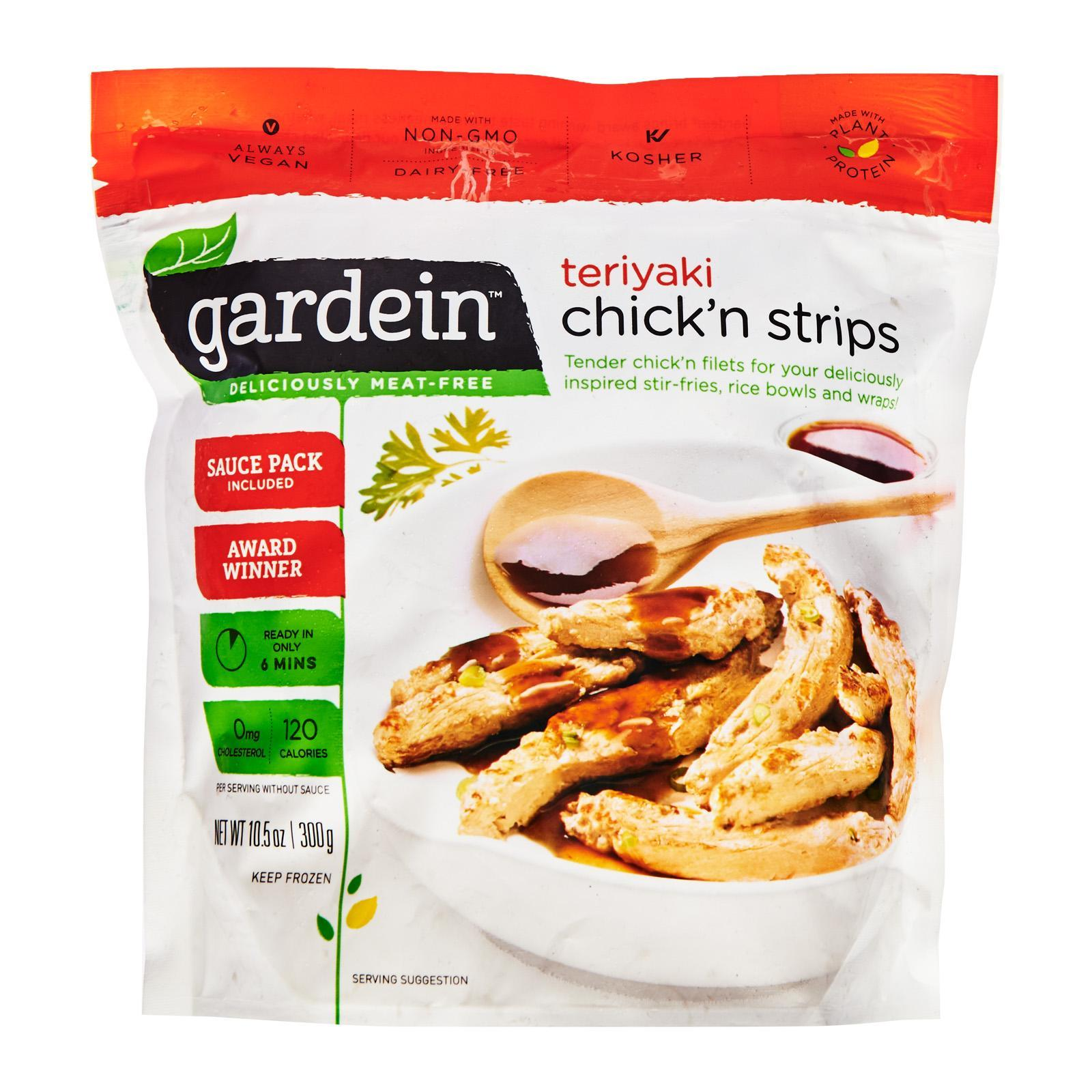 Gardein Vegetarian Teriyaki Chickn Strips - Frozen By Redmart.