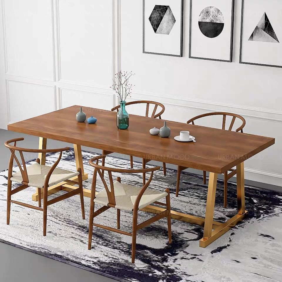SPIETH Modern Art Deco Wooden Dining Conference Table