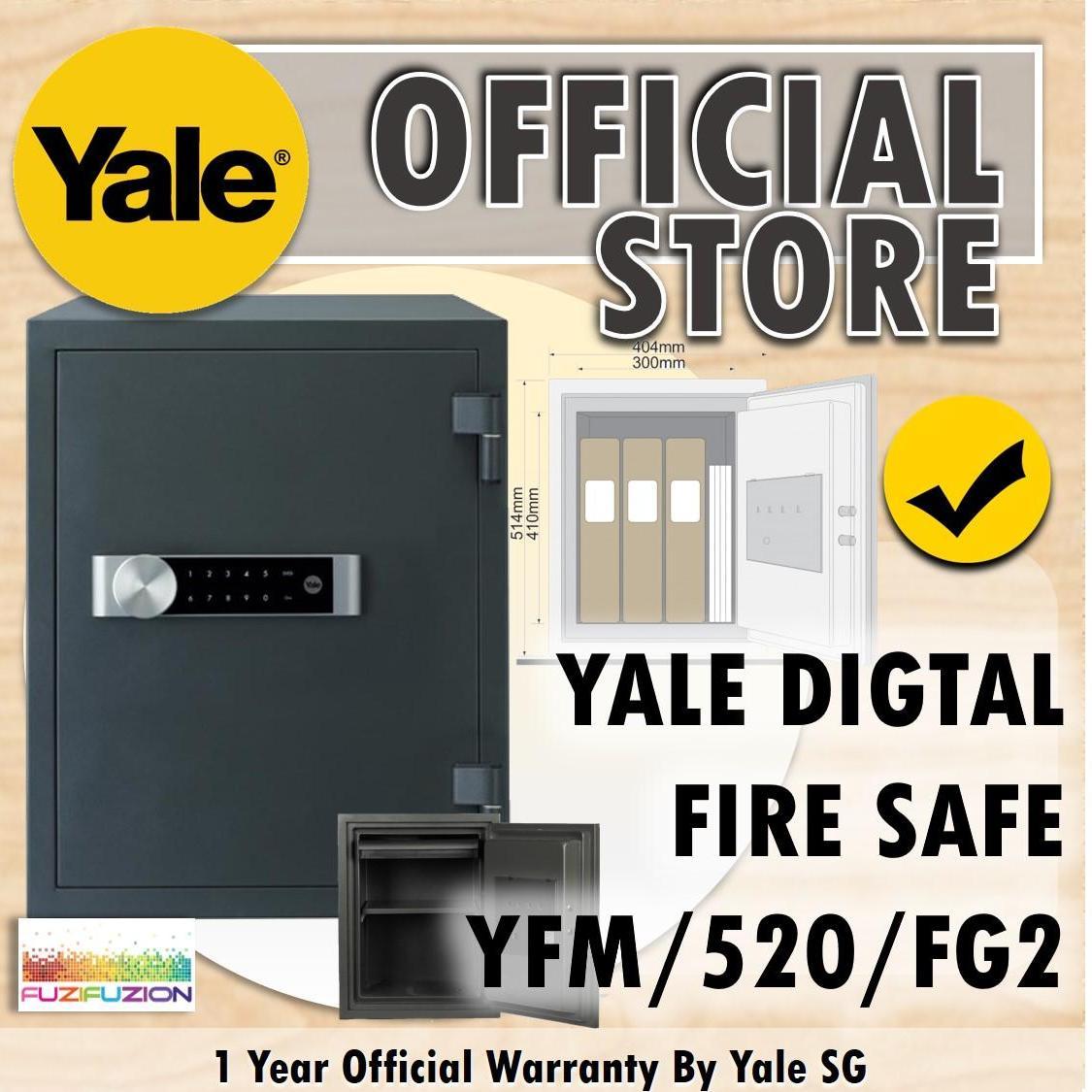 Yale YFM/520/FG2 Extra Large Electronic Document Fire Safe