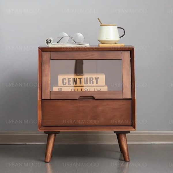 [PRE-ORDER] SMITH Rustic Pine Wood Bedside Table