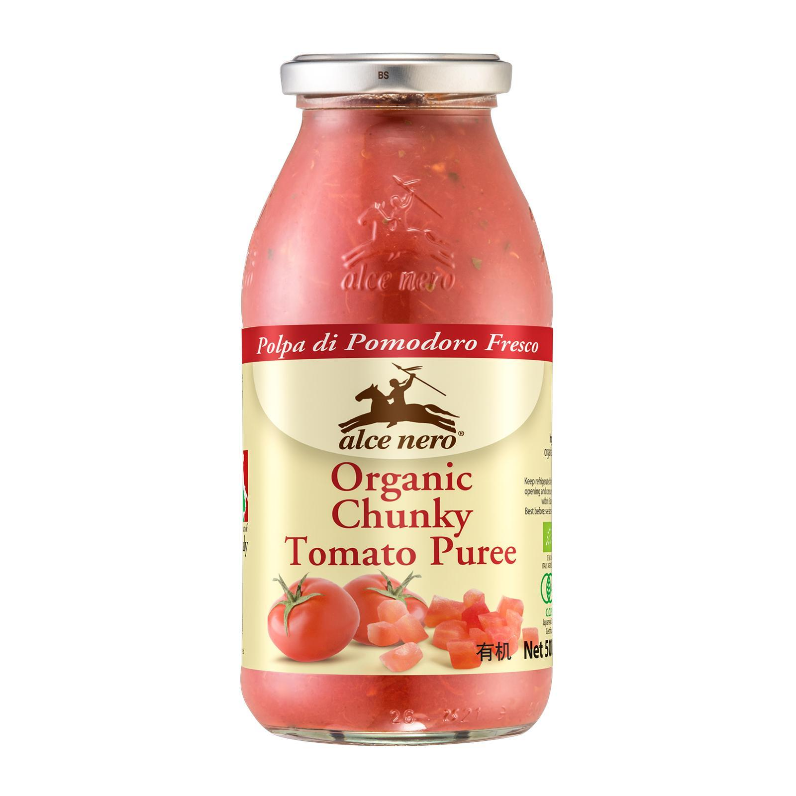 ALCE NERO Organic Chunky Tomato Puree 500g