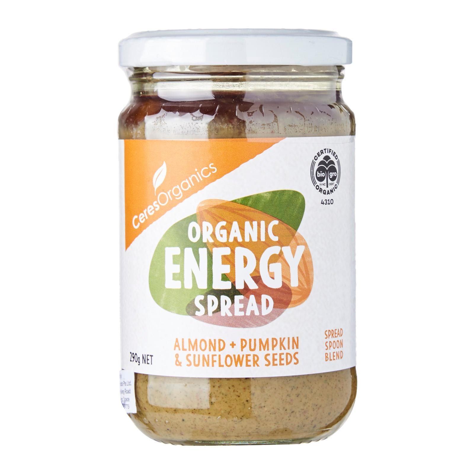 CERES ORGANICS Energy Spread (Pumpkin Sunflower Seed and Almond) - by Optimo Foods