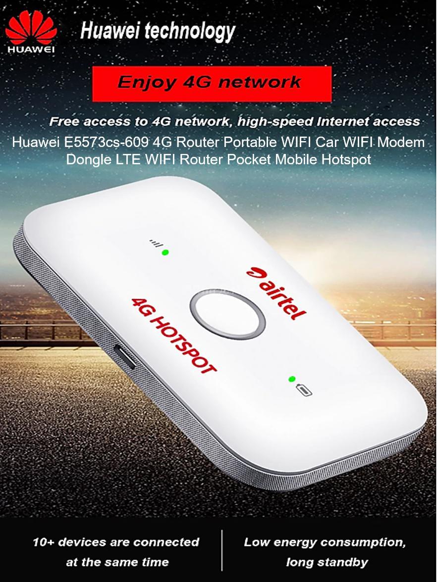 Huawei E5573cs-609 4G Router Portable WIFI Car WIFI Modem Dongle LTE WIFI  Router Pocket Mobile Hotspot