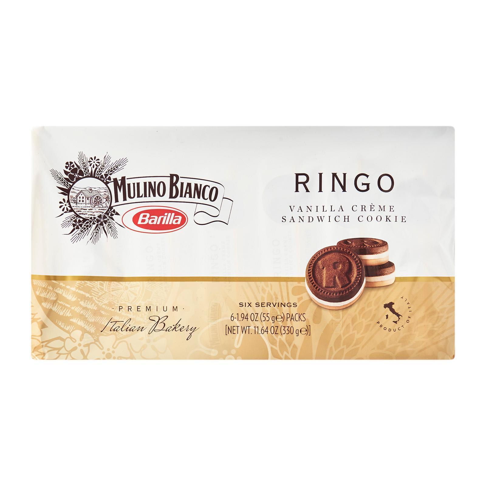 Mulino Bianco Ringo Vanilla Cream - Snack Cookie Chocolate Biscuits