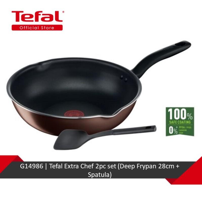Tefal Extra Chef 2pc set (Deep Frypan 28cm + Spatula) G14986 Singapore