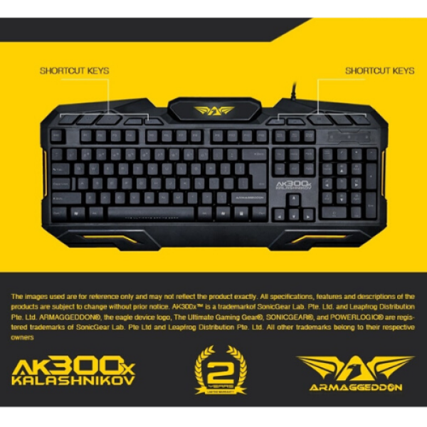 Armaggeddon AK-300X Gaming Keyboard Singapore