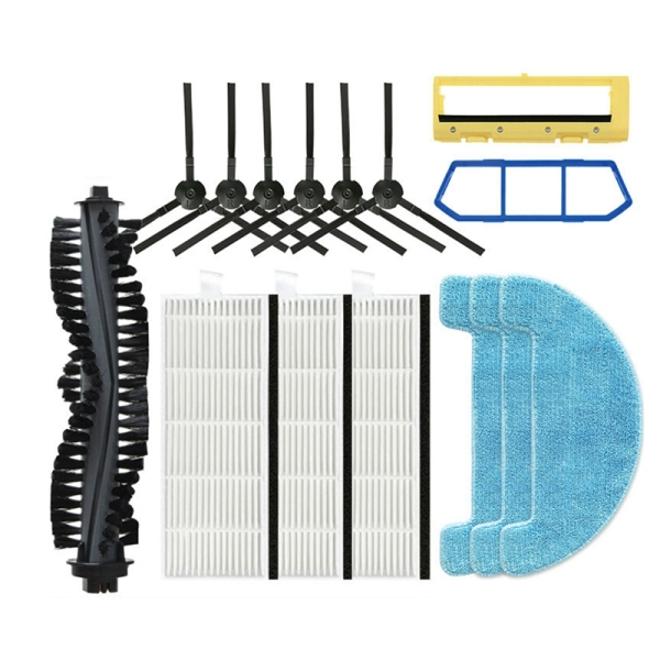 Filter Side Brush Spin Brush for ILife A4 A4S A40 X432 Robot Vacuum Cleaner Parts (15Pcs)