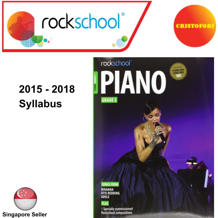 ROCKSCHOOL Piano - Grade 3 (2015 - 2018 Syllabus Book)