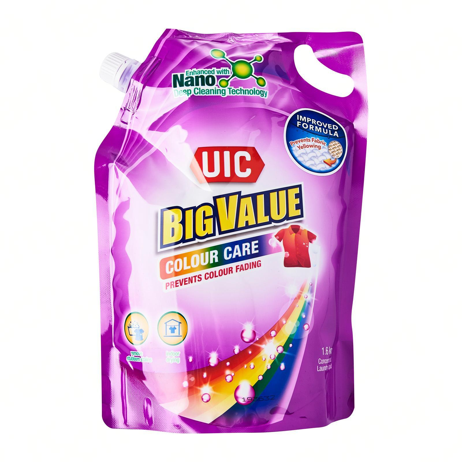 UIC Big Value Colour Care Liquid Laundry Detergent Refill Pack