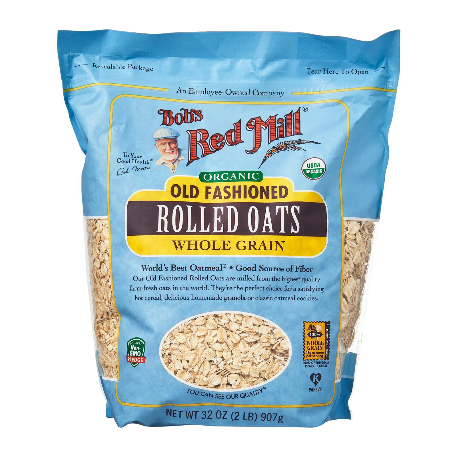 Bob's Red Mill Organic Old Fashioned Regular Rolled Whole Grain Oats