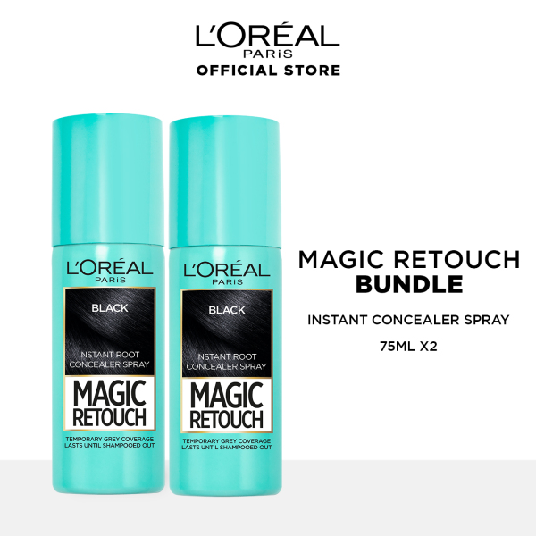 Buy [Bundle of 2s] Magic Retouch Instant Root Concealer Hair Spray 75ml by LOreal Paris Singapore