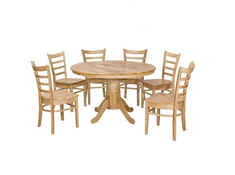 Coco 1 + 6 Dining Set / Dinner Set / Dining Room Set / Meja Kerusi Makan / Breakfast Set / Lunch Set -Meja Bulat By Furniture Stores.