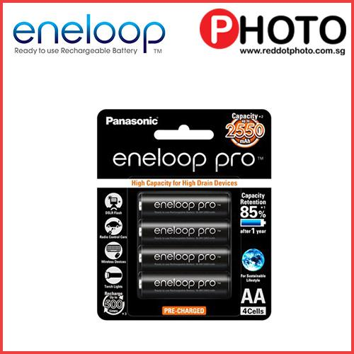 Panasonic Eneloop Pro Aa Rechargeable Ni-Mh Batteries (2550 Mah) By Red Dot Photo (capitaland Merchant).