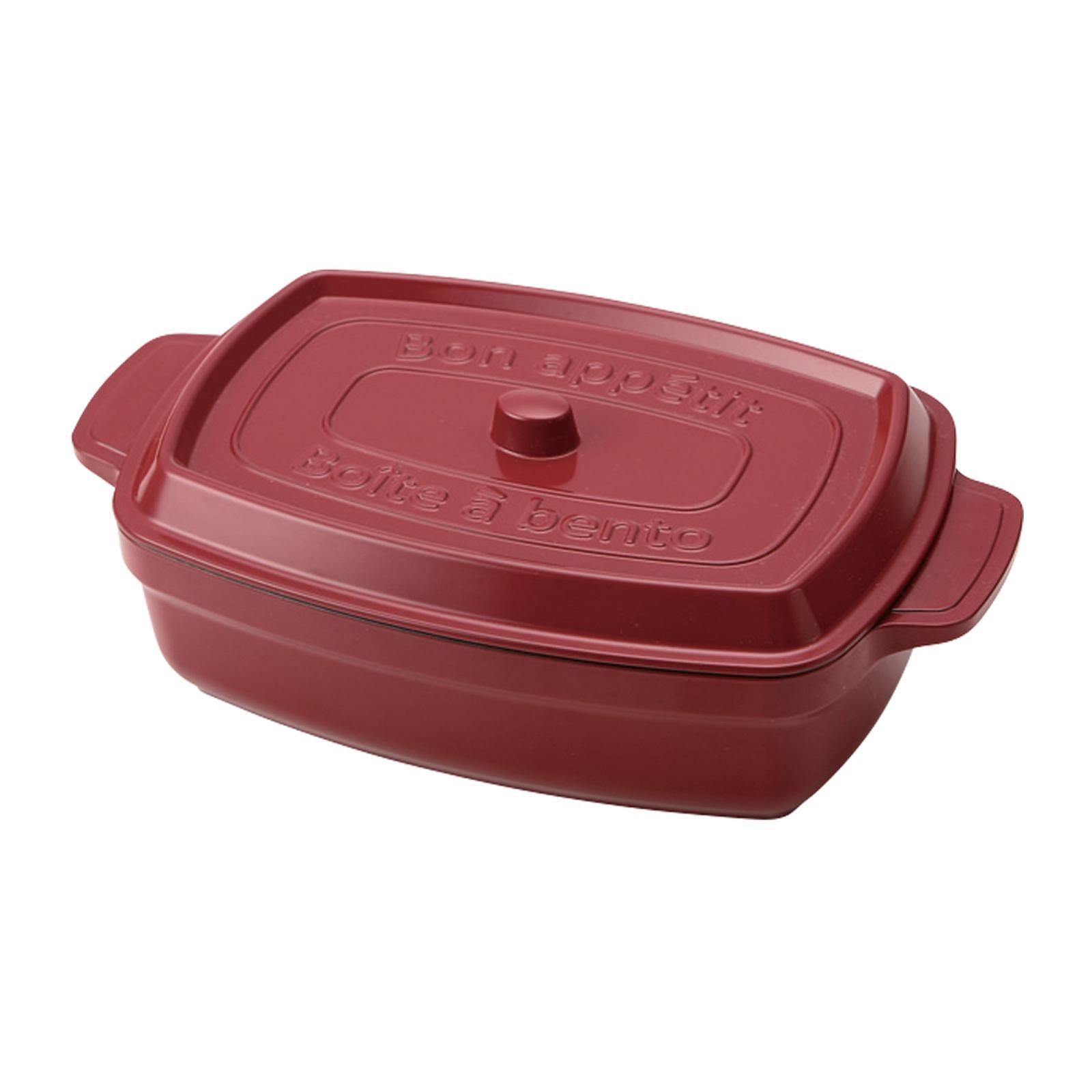 TAKENAKA Cocopot Rectangle Bento Lunch Box - Red