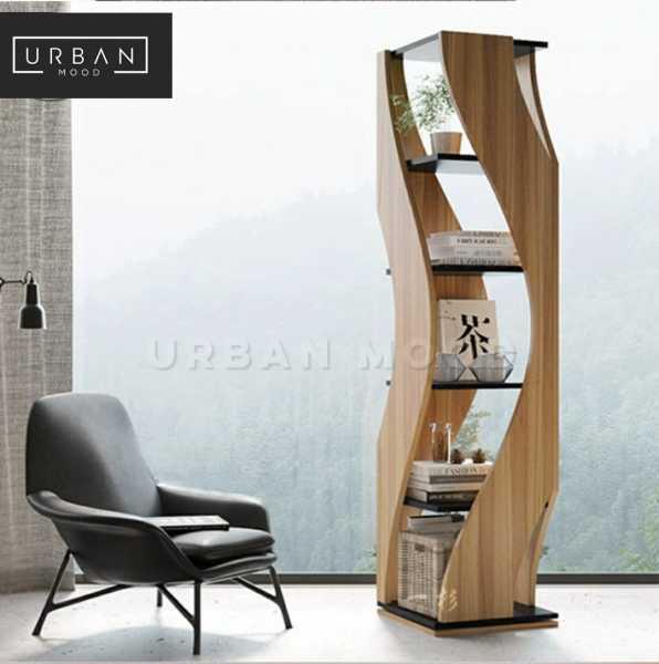 TILDEN TILDEN Postmodern Solid Wood Bookshelf