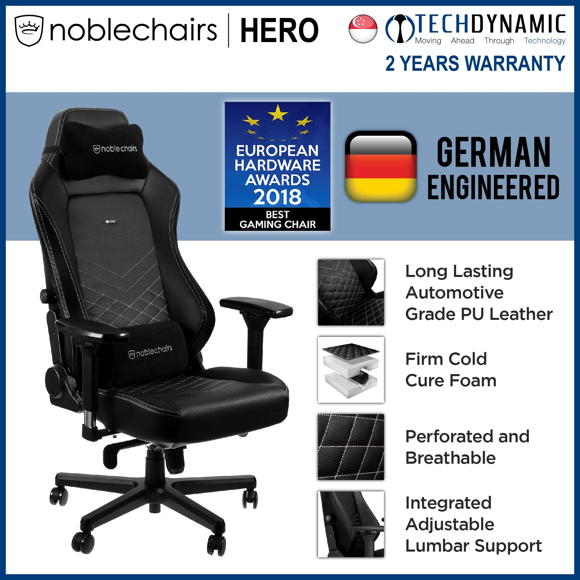 Noble Chairs Gaming Chair PU Leather HERO Series [Available in 5 colors]