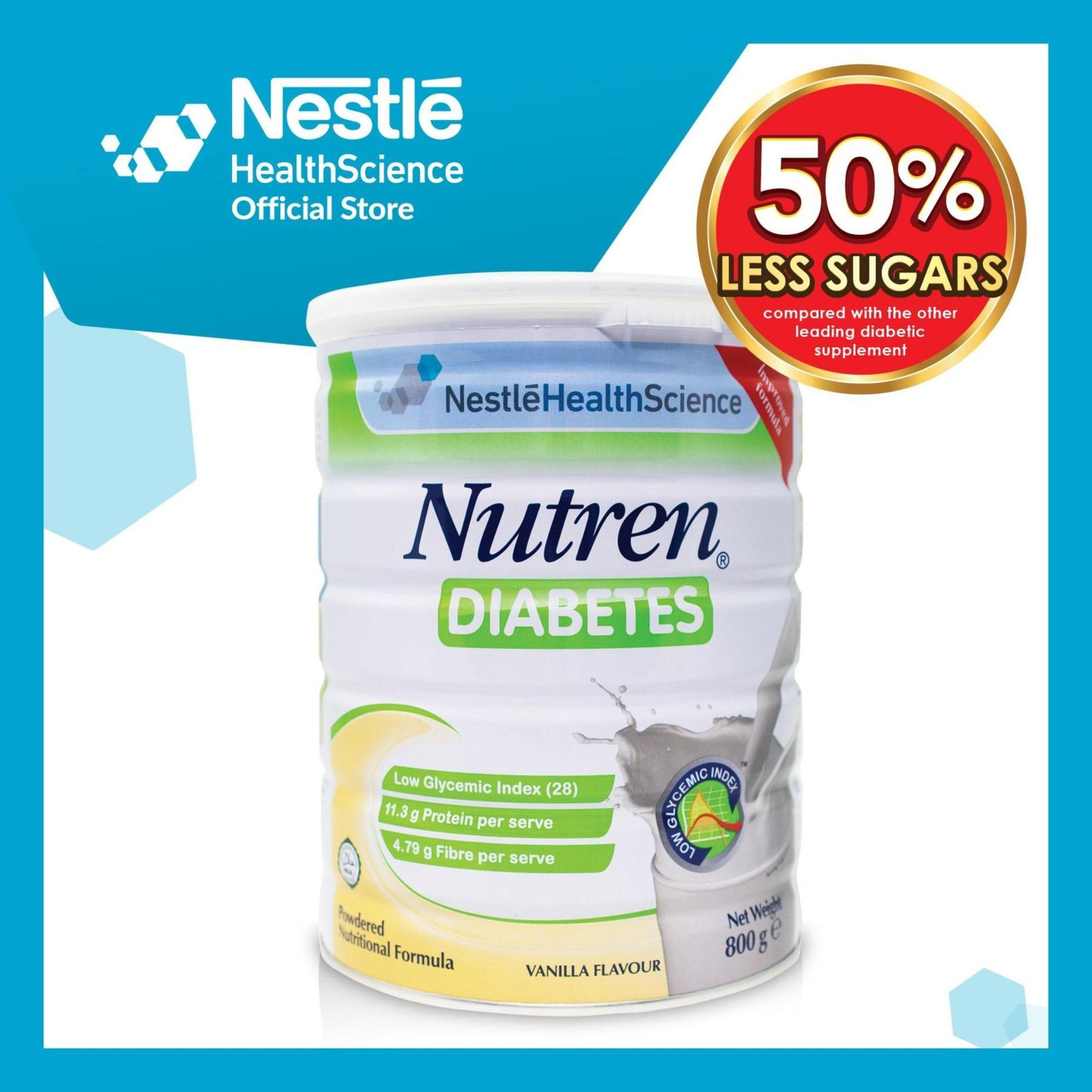 Nutren Diabetes Powder 800g By Nestle Health Official Store.