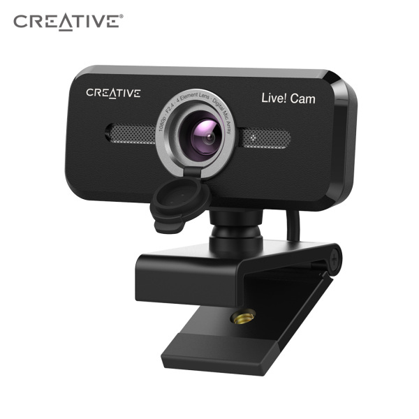 Creative Live! Cam Sync 1080P V2 Full HD Webcam with Auto Mute and Noise Cancellation for Video Calls