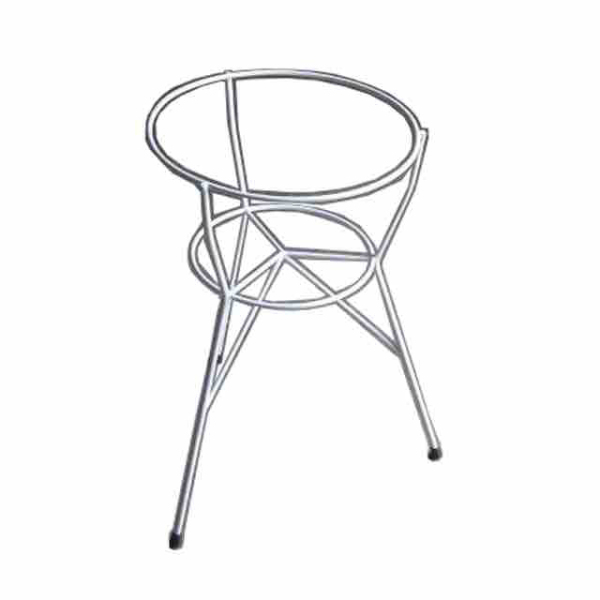 "Camal No.108 White Flower Stand (14.5""W x 23""H)"