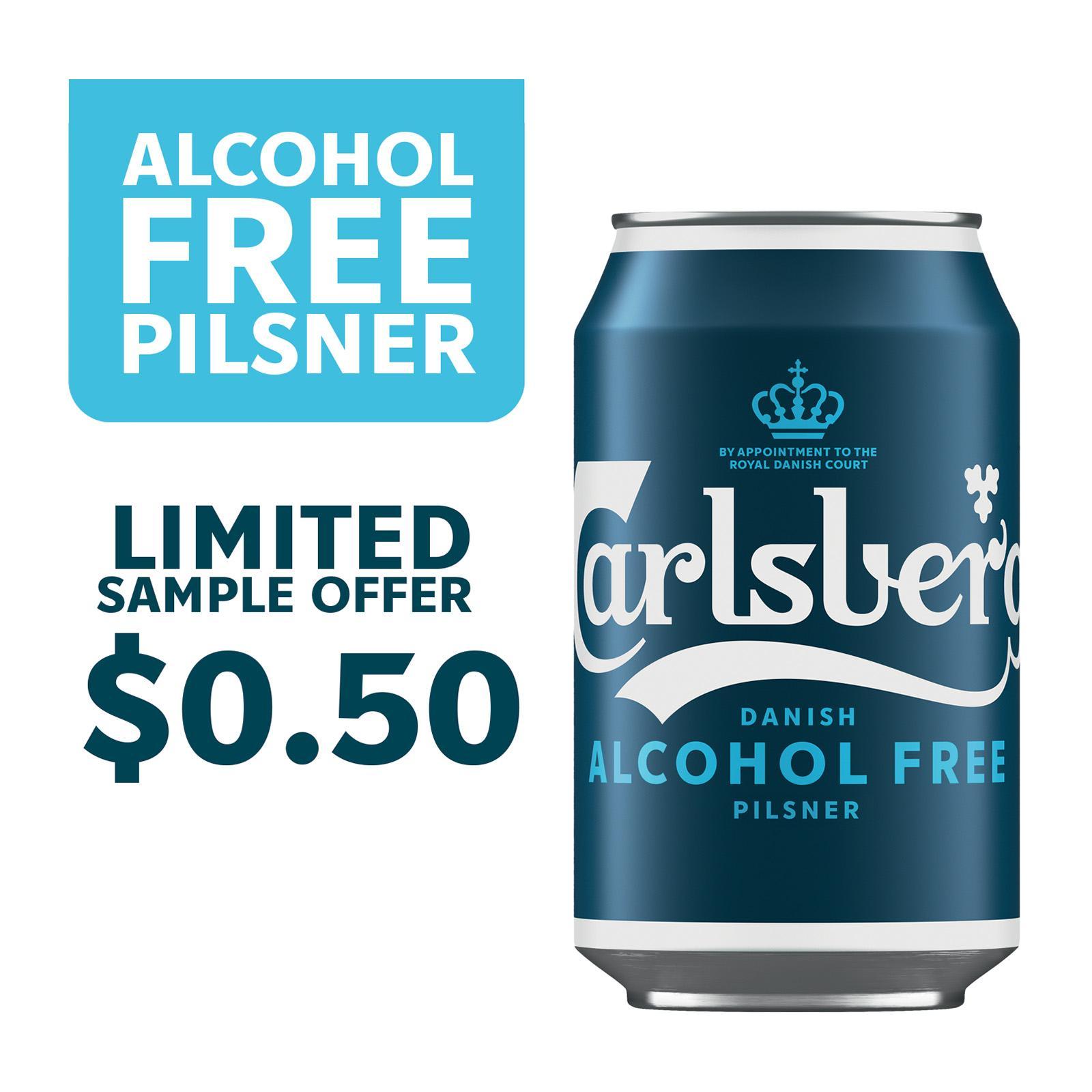 Carlsberg Alcohol Free Pilsner Beer Can 330ml [Sample 1 per customer]