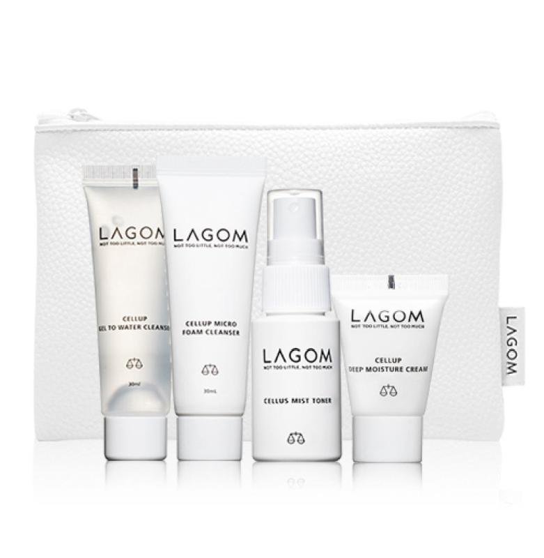 Buy Lagom Daily Skincare Essentials Travel Kit (Day and Night Cleanser, Toner and Moisturiser) Singapore