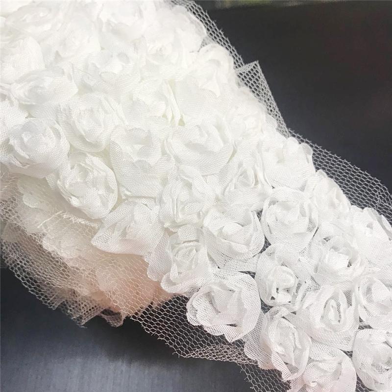7.5cm Xám Hoa Hồng Vải Chiffon Ruy Băng Nơ Bướm Chất Liệu Nguyên Liệu Phụ Thủ Công Tự Làm Phụ Kiện Trang Trí Tóc Chất Vải Ruy Băng Trang Trí