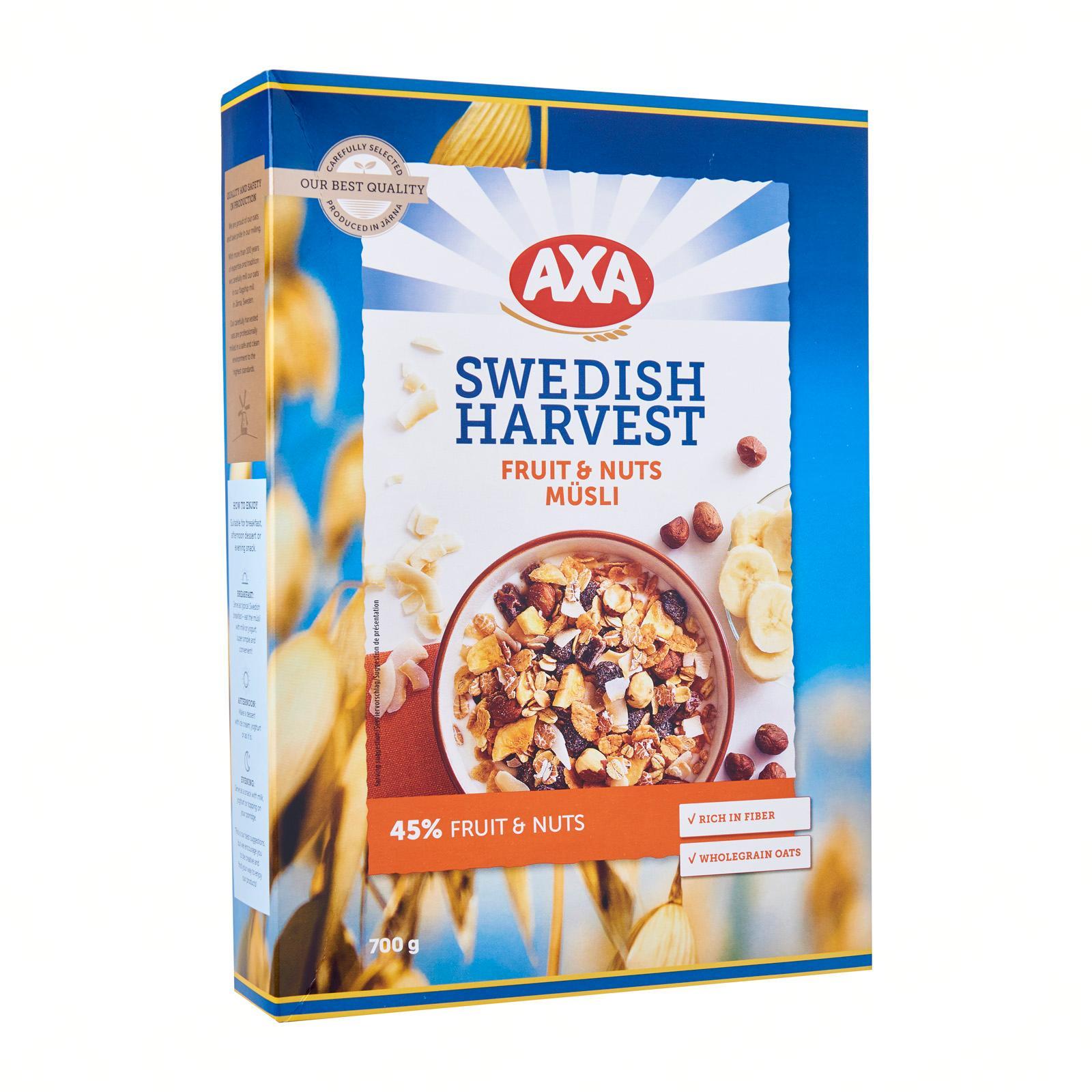 AXA Swedish Harvest Rich Fruit and Nuts Musli 45 - percent