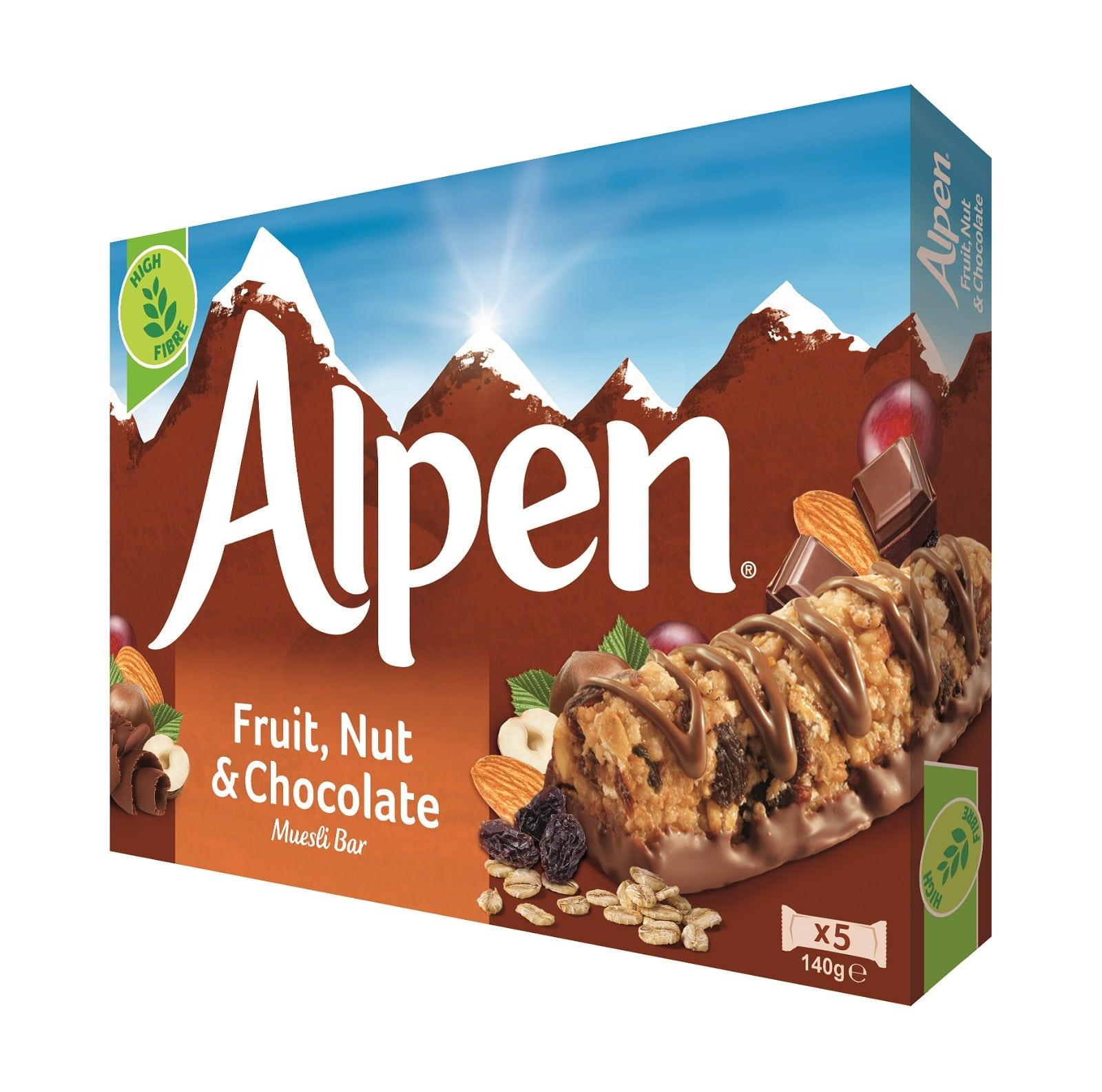 Alpen Fruit and Nut with Milk Chocolate Cereal Bars
