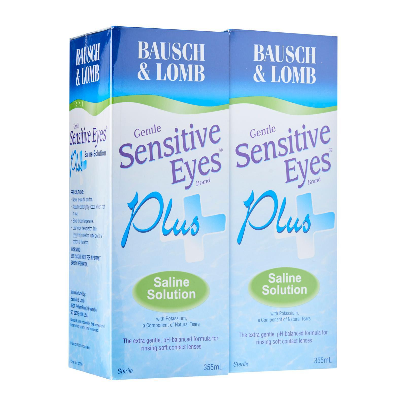 Bausch and Lomb Sensitive Eyes Plus Saline Solution Twin Pack