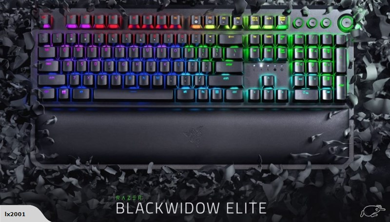 Razer Blackwidow Elite Mechenical Keyboard (Green/Yellow/Orange Switches) Singapore