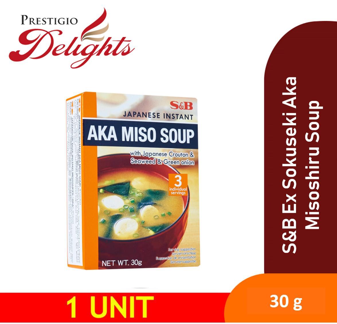 S&b Ex Sokuseki Aka Misoshiru Soup 30g (japanese Crouton & Seaweed & Green Onion) By Prestigio Delights.