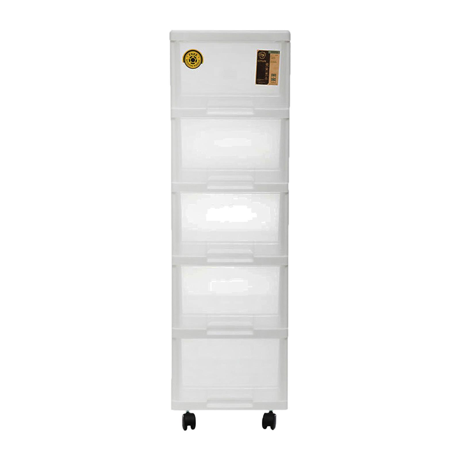 CITYLIFE 5 Tier Storage Cabinet With Wheels