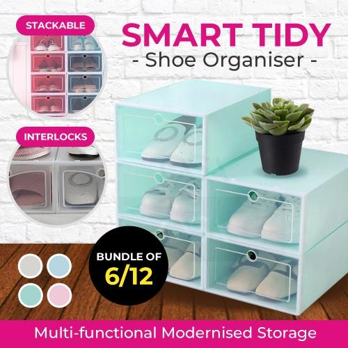 *Bundle of 6*12 Stackable Modular Shoe Box - drawer/storage/shoe rack/furniture
