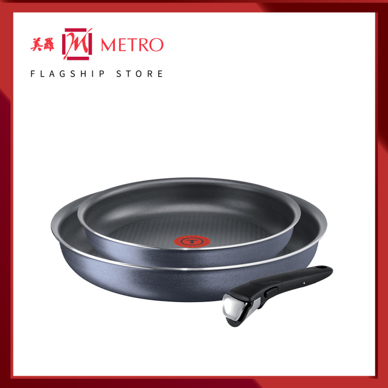 Tefal Ingenio Elegance 3pc Set (Frypan 24cm + Frypan 28cm + Removable Handle) L23192 Singapore