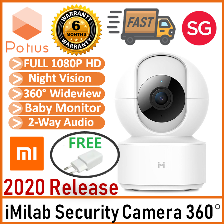 2020 Global Version Xiaomi Mi Imilabs Home Smart Ip Home Security 360 Cctv Camera 1080p, Night Vision Motion Tracking Baby Crying Detection.