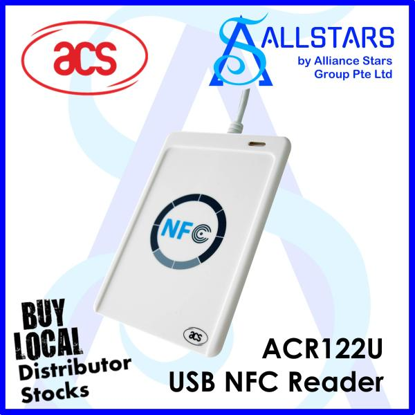 (ALLSTARS : We are Back PROMO) ACS ACR122U CEPASLink CEPAS Card Reader / Cash Card Reader / USB NFC Reader (Support EZ-Link / NETS FlashPay / TransitLink Concession) (Local Warranty 1year with Distributor)