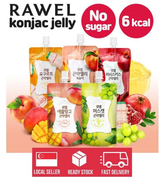 Buy Rawel Delicious Diet Peach Konjac Jelly 1box / 10packs /5 taste (Local Stock + Fast Delivery) - Expiry Jun 2021 Singapore