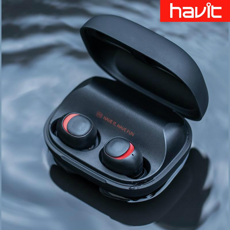Havit® I93 / True Wireless Sports Headphones / 2200mah Powerbank / Ipx5 Waterproof / Bluetooth 5.0 / Local Set By Mosimosi.
