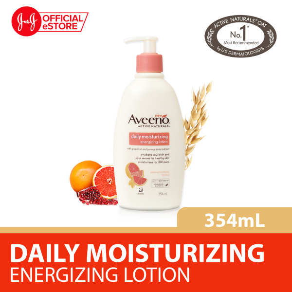 Buy Aveeno Active Naturals Daily Moisturizing Energizing Lotion with grapefruit and pomegranate extract, 354ml Singapore