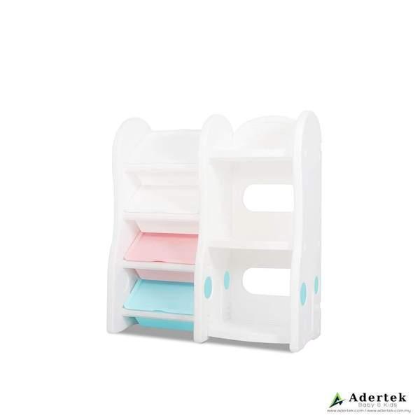 Pastel Compact Storage Organizer + Bookshelf (Extended)