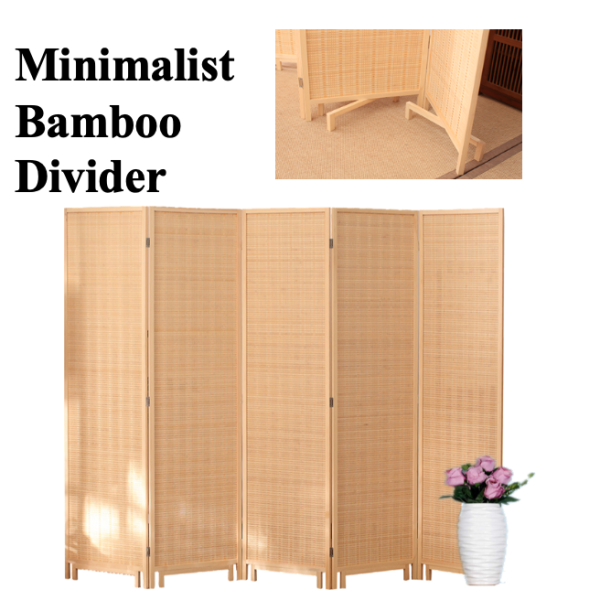 [BAMBOO DIVIDER]Partition Folding Screen Room Divider Solutions Fengshui partition privacy seperate