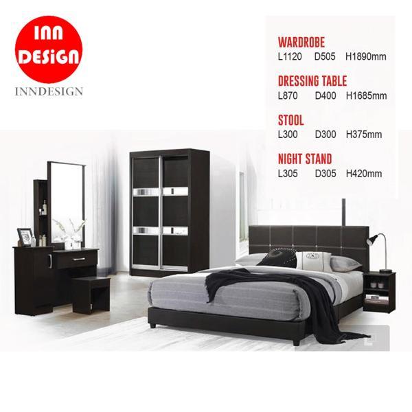 Bedroom Set ((Bedframe+Wardrobe/Dresser + Stool/Bed-Side Table)(Free Installation)