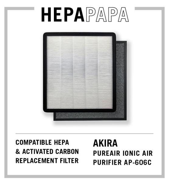 Akira PUREAic Ionic AP-606C Compatible Replacement Filters [HEPAPAPA] Singapore