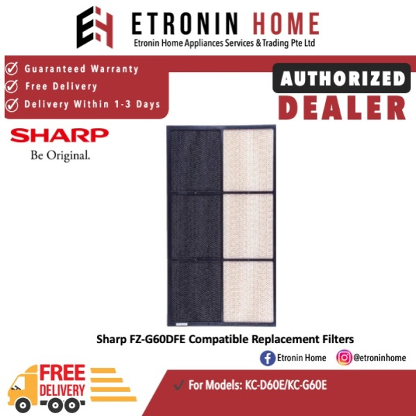 Sharp FZ-G60DFE Compatible Replacement Filters for KC-G60E/KCG60L-W Singapore